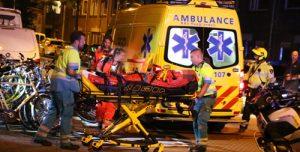 21 augustus Student zwaargewond na val door glazen koepel Nassaulaan Delft [VIDEO]