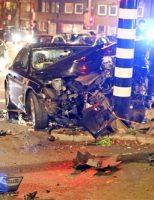 17 november Automobilist aangehouden na crash tegen verkeersportaal Soestdijkseplein Den Haag [VIDEO]