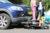 30 augustus Brommer deels onder auto na ongeval Voorhofdreef Delft