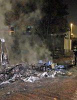 17 november Vrachtwagen en bus in brand gestoken Van Lodensteijnstraat Voorburg [VIDEO]
