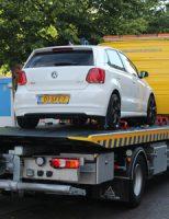 8 juli Auto total loss op poller Paveljoensgracht Den Haag