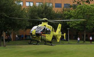20 juni Traumahelikopter ingezet voor gewonde vrouw na val van trap Delft
