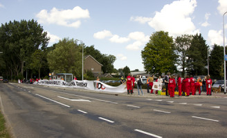 14 augustus Demonstratie tegen experimenteren met apen