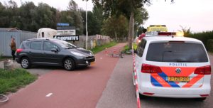 11 september Wielrenfiets door midden na aanrijding met auto Rotterdamseweg Delft