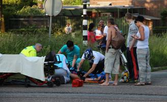 6 juni Fietser gewond tijdens het oversteken bij de busbaan