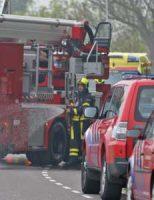 7 mei Brandweer druk bezig met brand in schuur Oostgaag Maasland