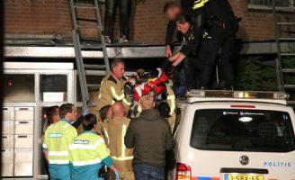 15 september Verwarde man valt van dak Laveibos Zoetermeer