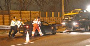 23 december Snelweg A13 tijdje afgesloten na flink ongeval met twee personenauto's A13 Delft [VIDEO]