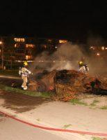 20 september Flinke rookwolken na brand in hooibalen Klaproosveld Den Haag