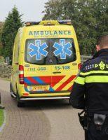25 september Man in scootmobiel te water door blaffende hond Lookwatering Den Hoorn
