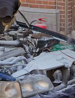 27 augustus Autobrand vermoedelijk ontstaan door kortsluiting