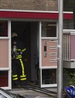 28 augustus Brandstichting in gang kelderboxen Van Kinschotstraat