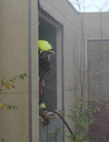 18 november Flinke rookontwikkeling door brand in leegstaande school Hendrik van Naaldwijkstraat Naaldwijk