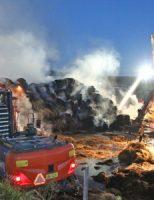 8 juli Brandweer druk met flinke brand bij boerderij Bieslandseweg Delfgauw