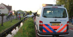 5 mei Dronken automobilist rijdt voertuig de sloot in