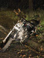 14 oktober Motorrijder gewond bij éénzijdig ongeval Zijdeweg Den Haag