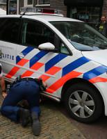 12 juli Poller sloopt Politieauto Oude Langendijk Delft