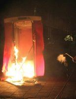 30 december Brandweer rukt uit voor brand in een dixi Albert Schweitzerlaan 's-Gravenzande