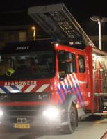 12 maart Bouwterrein stroomt vol met water na leidingsbreuk Phoenixstraat Delft