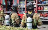 22 juli 'Middelbrand' in loods vol verpakkingsmateriaal Amersgat Hoek van Holland