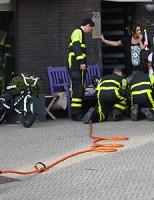 Voetje klemvast in fiets Pieter de Hooghstraat