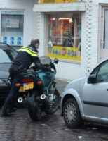7 februari Gewonde bij aanrijding tussen personenauto en motor Caan van Necklaan Rijswijk