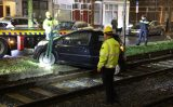 15 januari Tram gestremd door auto op trambaan Oude Haagweg Den Haag