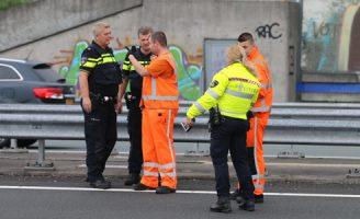 29 juli Flinke file door éénzijdige aanrijding A4 Rijswijk