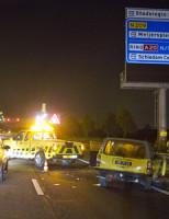 19 mei Gewonde bij flinke botsing A13 Delft