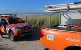 21 augustus Surfer raakt in problemen bij strandopgang Schelpenpad Monster