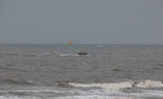 24 november Zoekactie na aangetroffen kiteboard