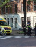 12 mei Fietsster gewond na aanrijding met motor Paviljoensgracht Den Haag