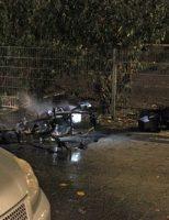 16 november Scooter in brand gestoken Van Dijckstraat Den Haag