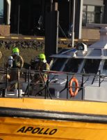 10 april Brand in motorruim loodsboot 'Apollo' op zee Hoek van Holland