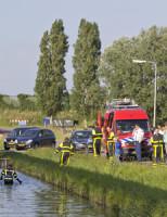 14 juni Brandweer doorzoekt sloot na aantreffen mountainbike Den Hoorn