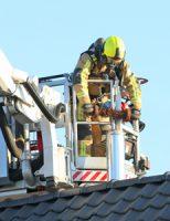 8 februari Brandweer bijna 50 minuten bezig met brand in schoorsteen Hoornseweg Den Hoorn