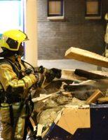 5 december Bouwafval container in brand gestoken Steijnlaan Den Haag