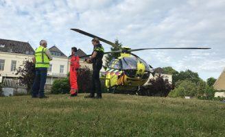 8 juni Traumahelikopter opnieuw ingezet in Delft, Markt Delft