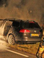 11 maart Auto in brand tijdens het rijden Leidschendamseweg Zoetermeer [VIDEO]