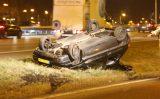 18 februari Auto op de kop; bestuurder gevlucht A13 Delft