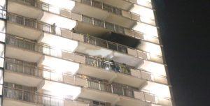 2 november Uitslaande brand op 10de verdieping van flat Stieltjesstraat Den Haag [VIDEO]