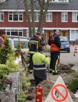 12 april Hoofdgasleiding lek door graafwerkzaamheden Jonkheer van der Welstraat Moerkapelle