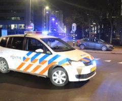 4 december Auto op zijn zij bij aanrijding Schenkkade Den Haag