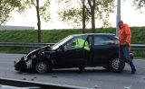 27 april Veel schade bij aanrijding tussen vrachtwagen en personenauto A20 Nieuwerkerk aan den  IJssel