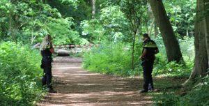28 mei Drie vrienden treffen mortier aan Staelduinse bos 's-Gravenzande