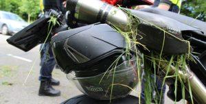 28 mei Motorrijder zonder beschermende kleding komt ten val Madesteinweg Den Haag