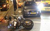 6 november Motorrijder van achteren aangereden door auto Schenkviaduct Den Haag