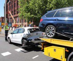 26 mei Verkeerschaos na flinke aanrijding op de Benoordehoutseweg Den Haag