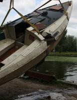 Brandweer gealarmeerd voor gezonken boot Jaagpad Rijswijk