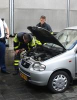 Auto maakt kortsluiting Krakeelpolderweg